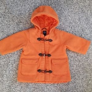 Baby Gap wool pea coat. Autumn Orange